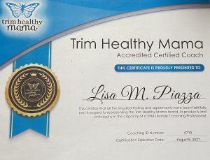 Coach Lisa certificate
