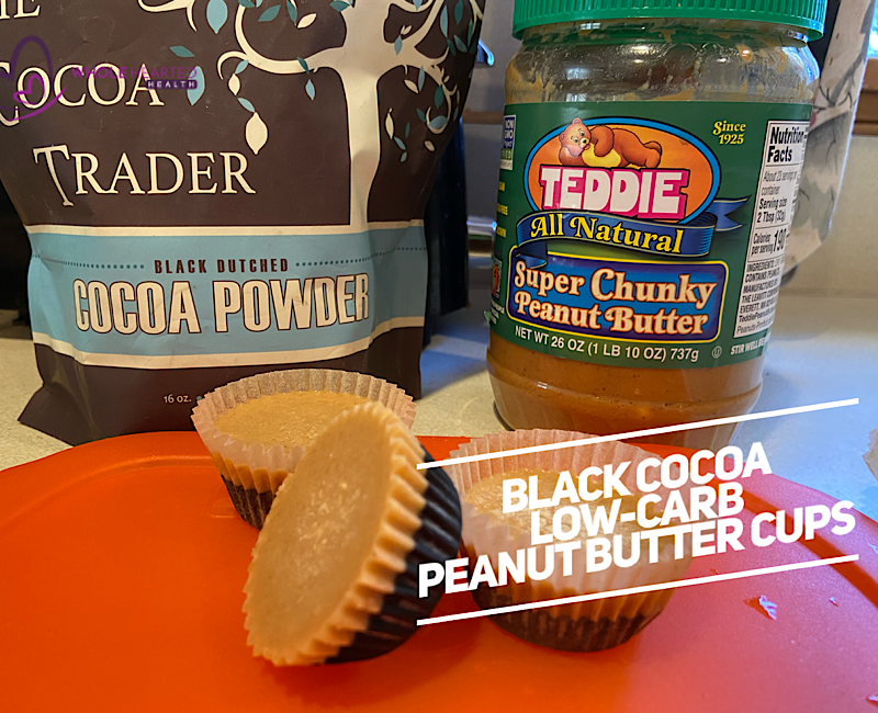 Black Cocoa Low-Carb Peanut Butter Cups